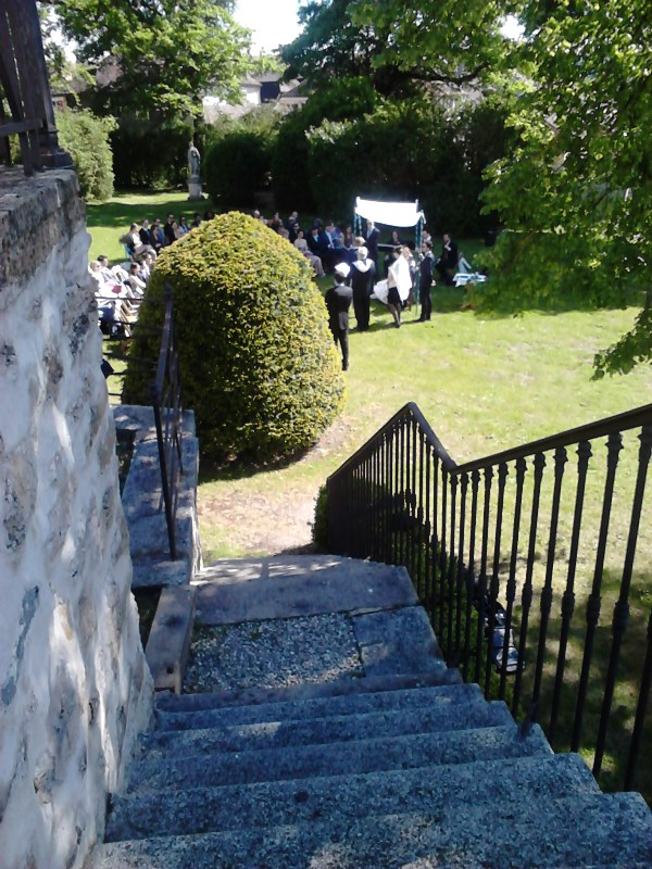 Escalier côté cour intérieure