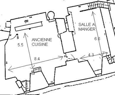 Plan de l'Ancienne cuisine et Salle à manger
